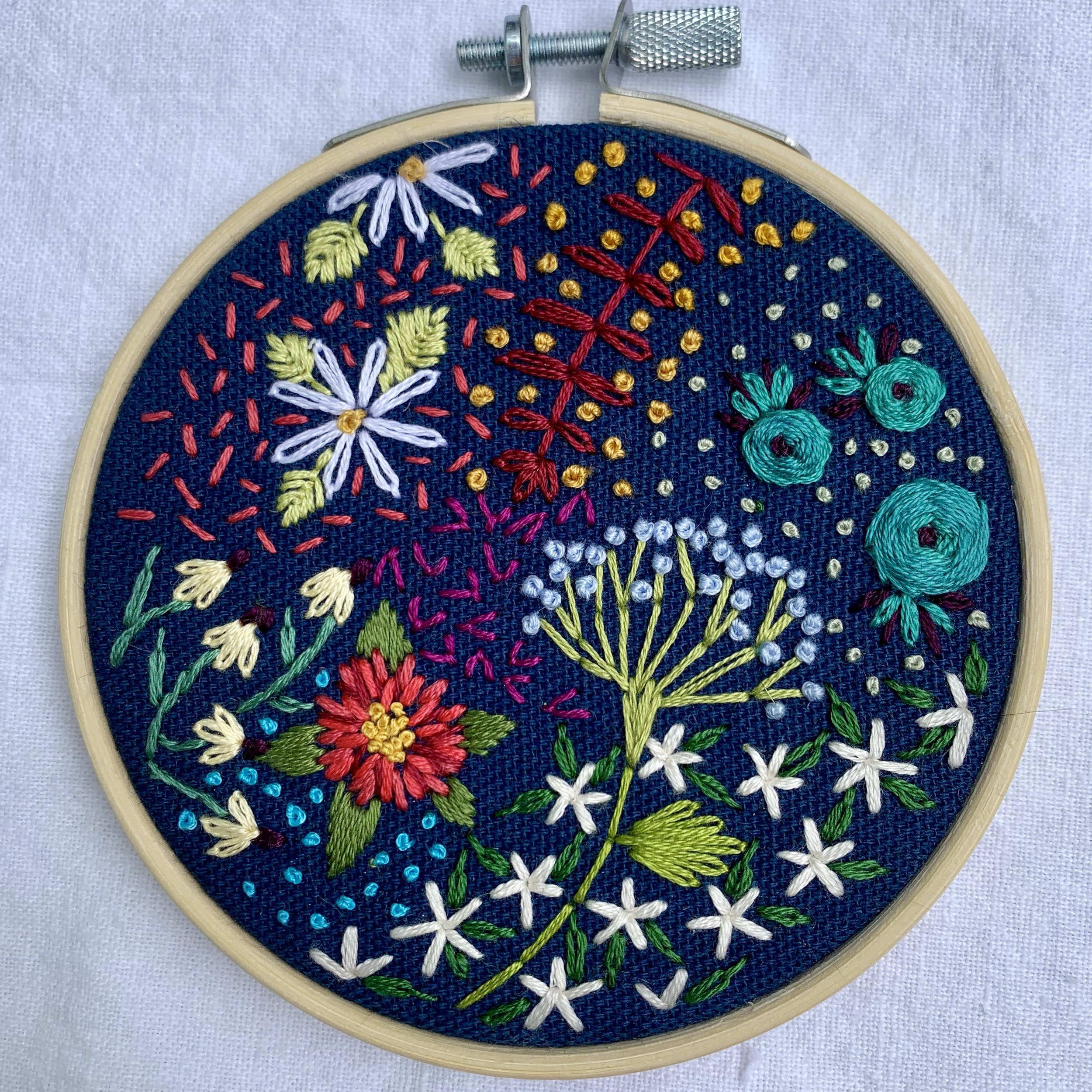 Floral Embroidery - Participants will create modern botanical designs using embroidery techniques. Learn all of the best tips and trick to achieve your desired results using the most common stitches and knots. There is no embroidery experience necessary! All you need is a little patience and enthusiasm for making.All materials are provided.Instructor: Jen JanhevichWorkshop Fee: $38 per person, minimum 5, maximum 12