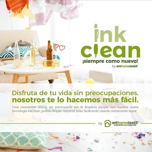 Te invitamos a conocer nuestro protector textil, INK CLEAN ¡Disfruta sin preocupaciones! #textilesarthome #arthometextil