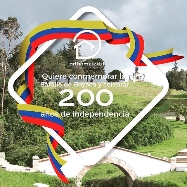 En Art Home Textil queremos conmemorar la Batalla de Boyaca y celebrar 200 años de independencia! 🇨🇴🎉🎊 #arthometextil #coloresquenosinspiran