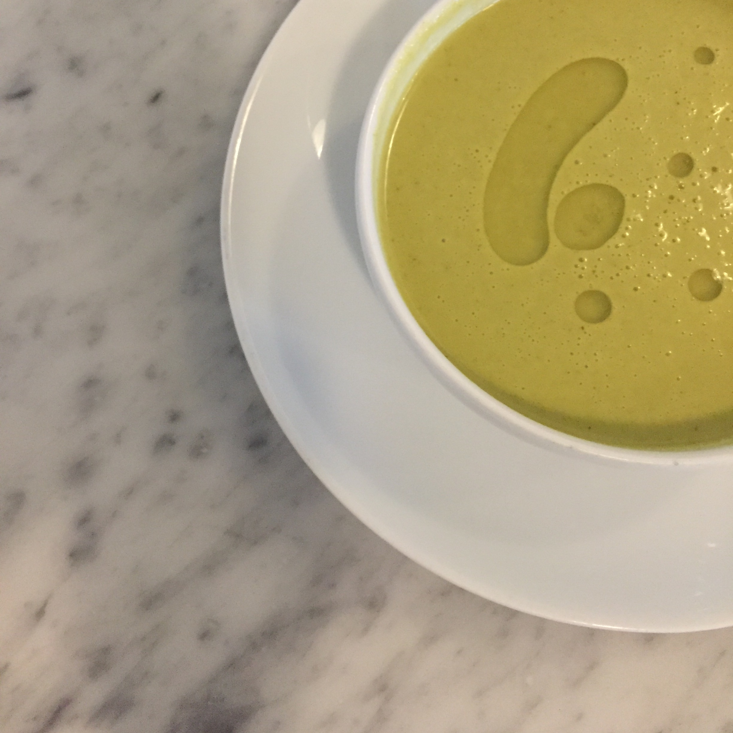 Chilled seasonal asparagus soup one of our favorites at The Grange Community Kitchen