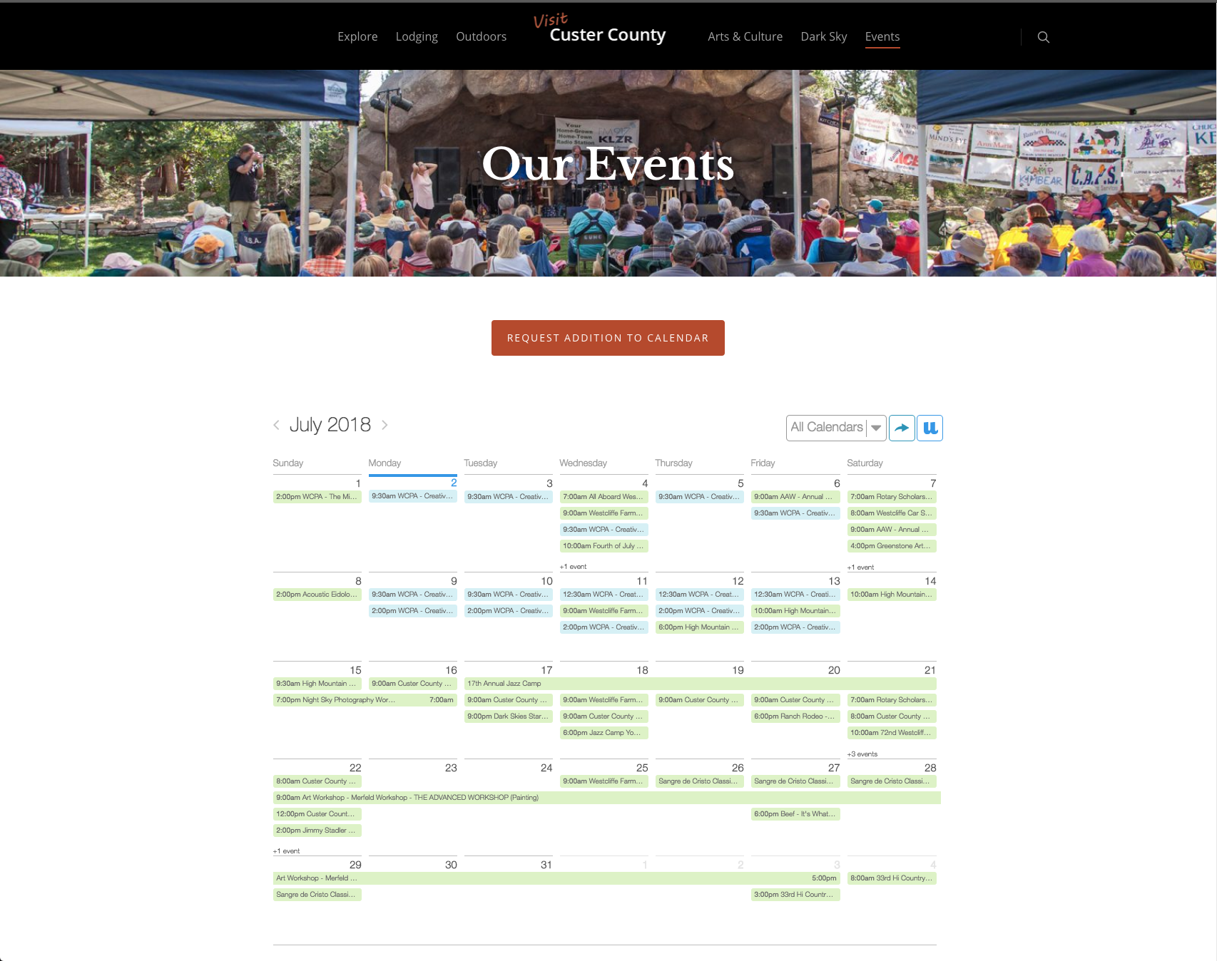 Events in Custer County
