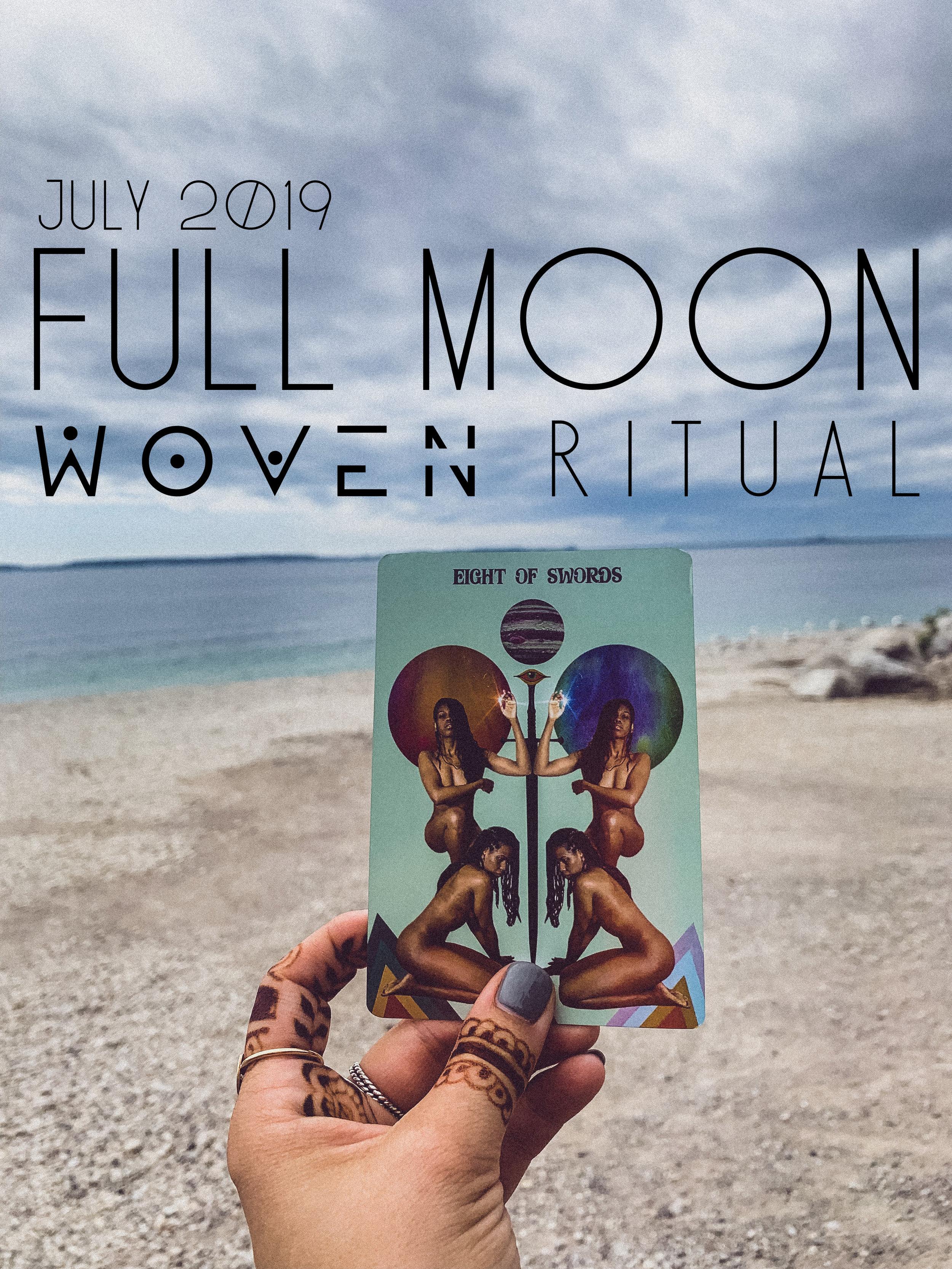 8 of swords for Full Moon + Lunar Eclipse July 2019