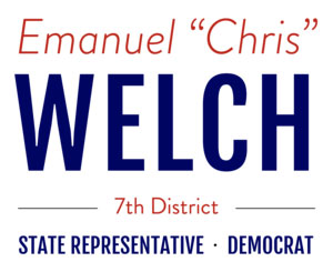 "Emanuel ""Chris"" Welch is the Illinois state representative for the 7th district."