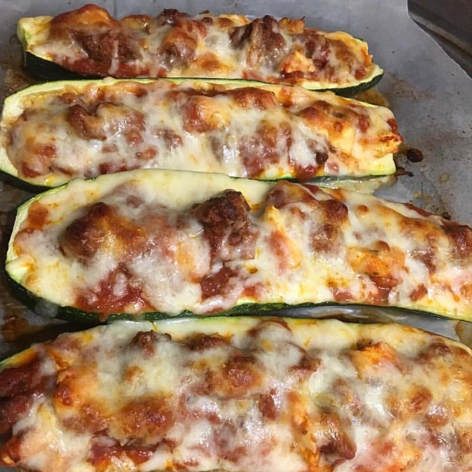 Low-Carb, Ketogenic Diet Zucchini Boats