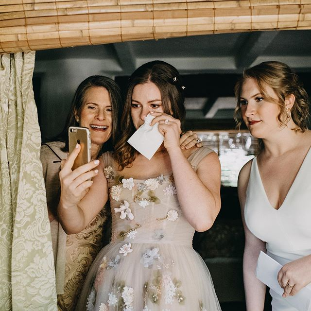 My favorite part of weddings are in between the BIG moments. Like when this bride FaceTimed her Bubbe who could not be there before the ceremony ❤️ Love on a wedding day is everywhere and it's bigger than just the couple getting married. Photographing a wedding, the story lies very heavily in quite corners and loud celebrations and very little in curated images at sunset.