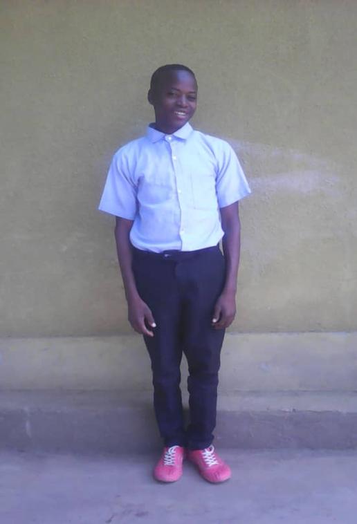 Samuel is a senior two student in G.S Nkondo 11, in Rwinkwavu sector .