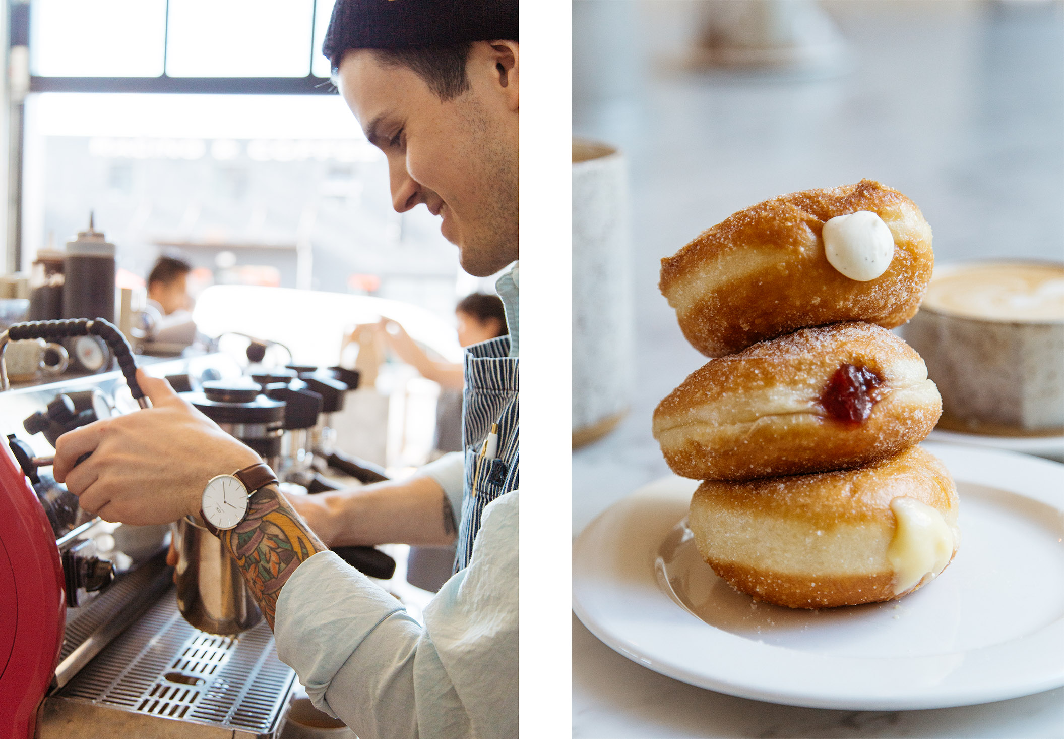A Barista at General Porpoise and donuts
