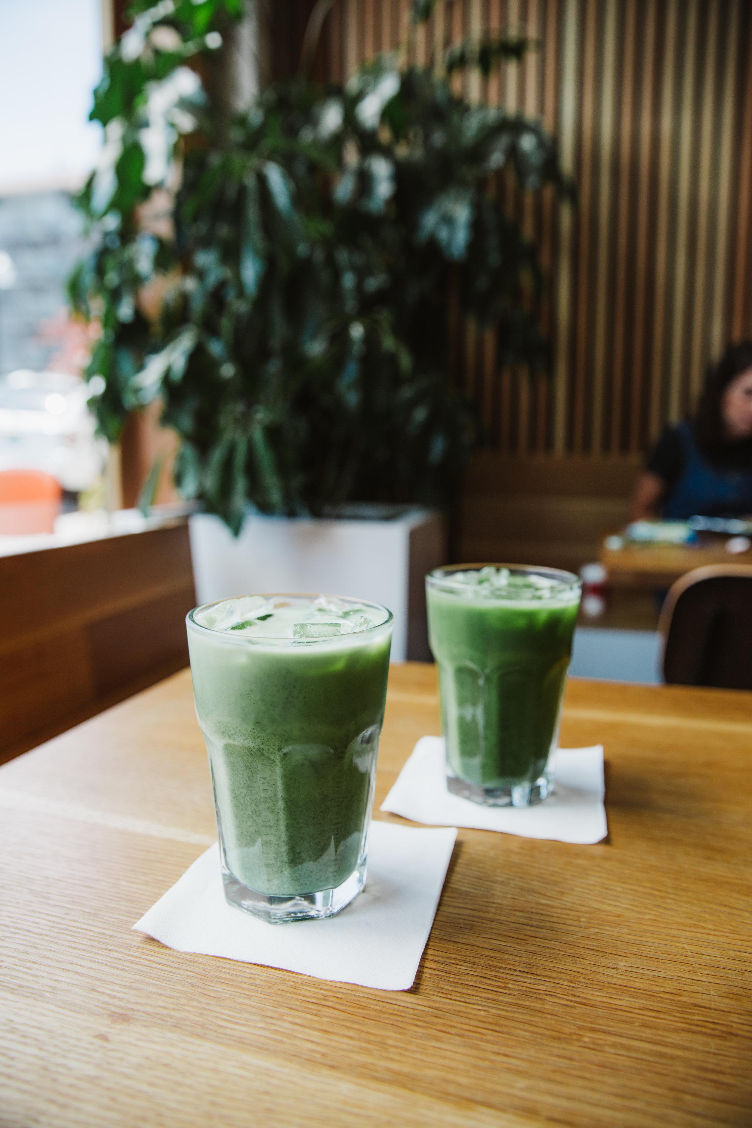 Iced Matcha Latte - Heart Coffee Roasters1123 SW Washington St. Portland, OR 97205