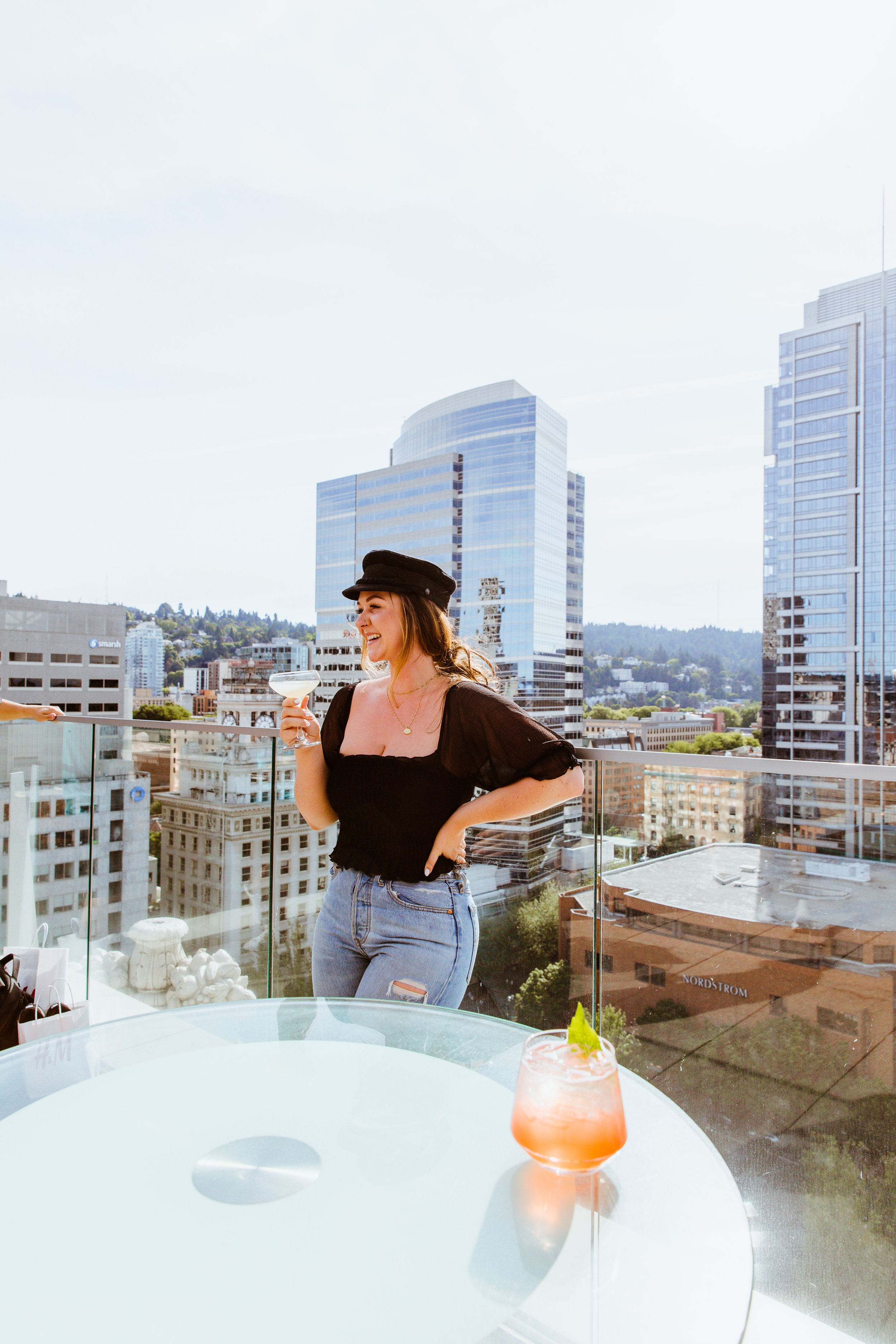 """""""Mocktails"""" With a View - Departure Restaurant and LoungeSW Morrison St. 15th Floor Portland, OR"""