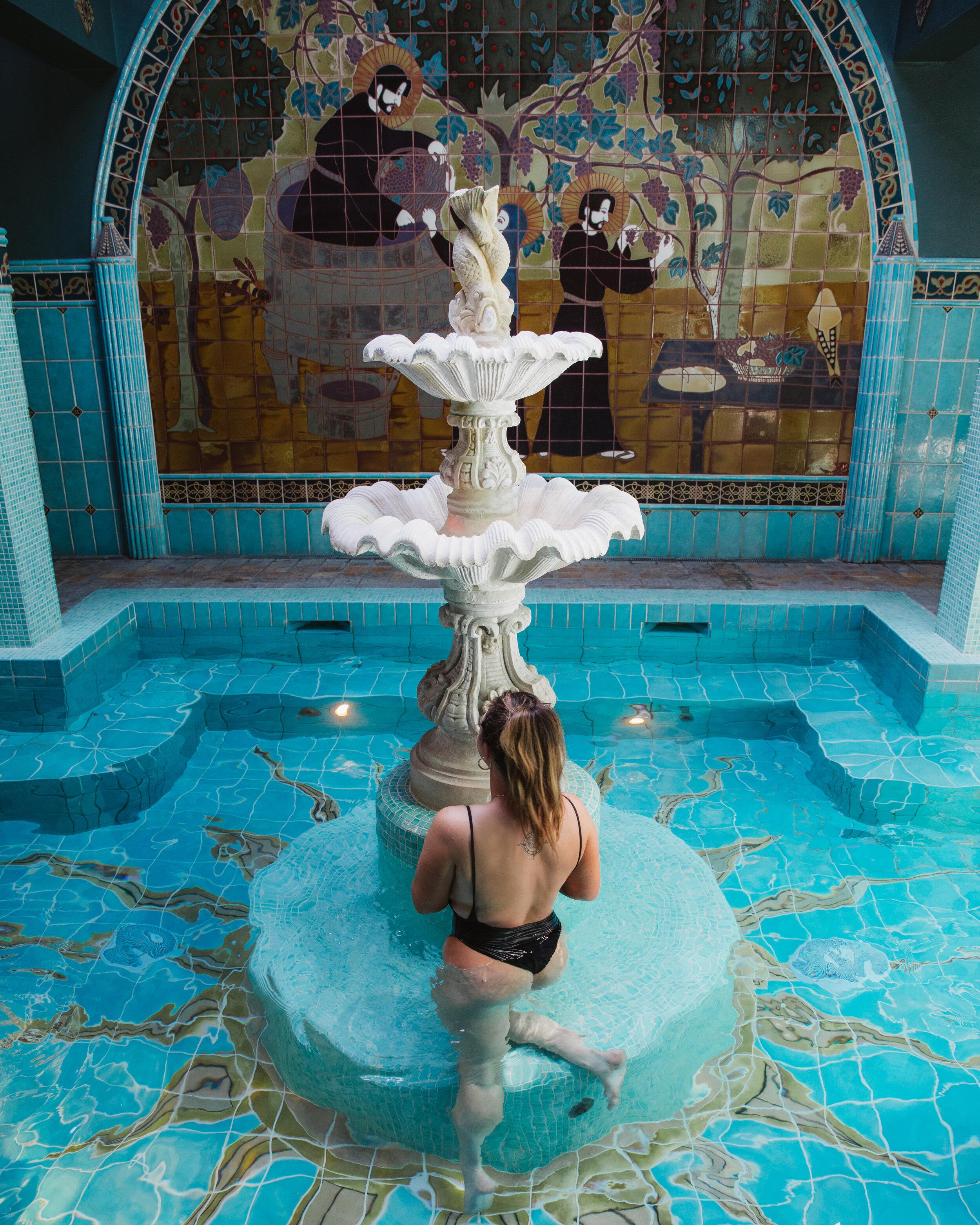 The soaking pools at the Old St. Francis McMenamins.