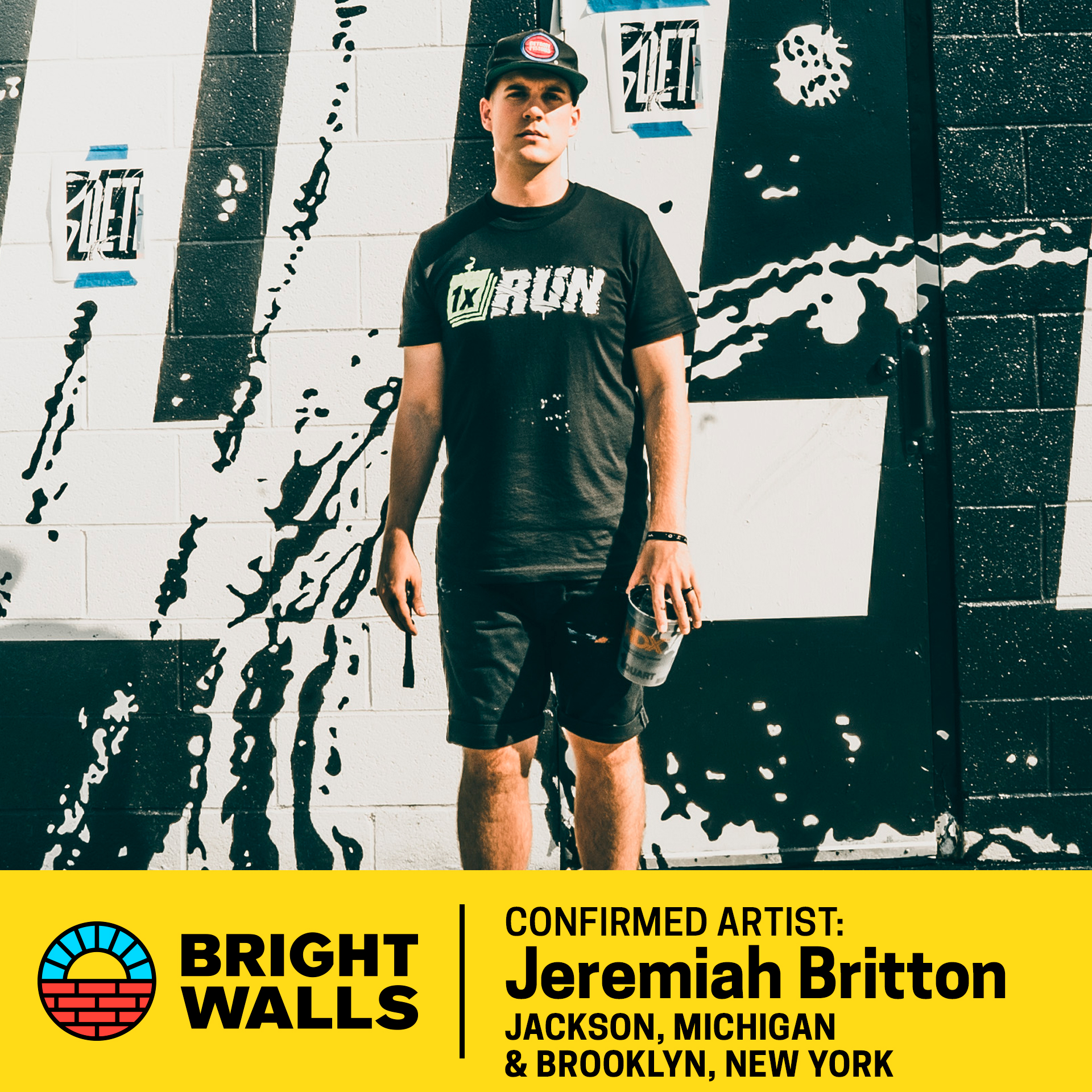 Jeremiah BrittonBrooklyn, New York - Jeremiah Britton is a Jackson, Michigan native currently based in Brooklyn, New York. He is the Creative Director of Art and Graphics at WeWork in New York City.Jeremiah's personal work ranges from branding and expressive typography to large scale public murals. He is the founder of WeWork's in-house environmental art and graphic design team which works to create unique installation art and graphic design inside of each WeWork space around the world. In addition, Jeremiah has worked with a range of freelance clients including AOL, Shake Shack, Microsoft, McKinney New York for Samsung, DDB New York, Scratch Viacom, West Elm, and Meetup. His work has been recognized by multiple publications and organizations such as The Art Directors Club and Computer Arts Magazine.