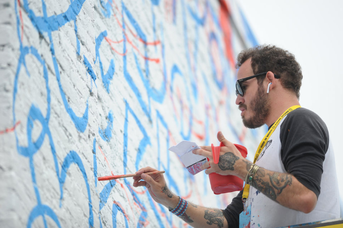 Overcoming weather delays, murals rise from once blank walls - mLive • Oct. 6, 2018