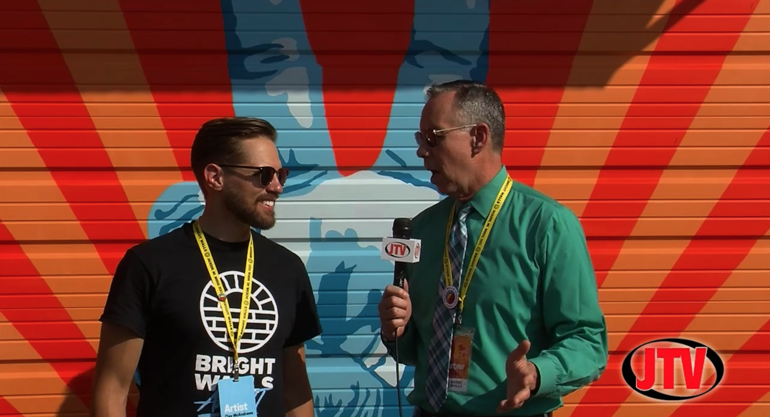 Bart Visits Bright WallsArtist & Event OrganizerClay McAndrews To Talk About Event Success - JTV Studios • Oct. 8, 2018