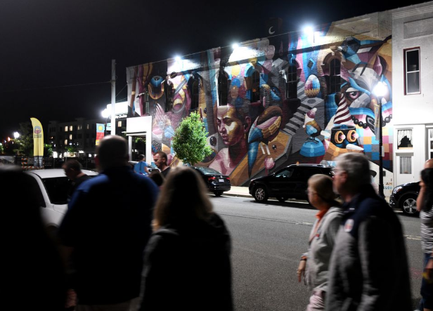 Lights on Bright Walls murals boost nighttime vibe in downtown Jackson - mLive • June 22, 2019