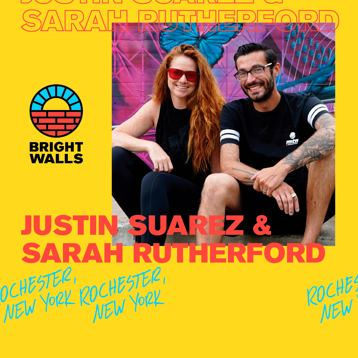 Justin Suarez &Sarah RutherfordRochester, New York 🇺🇸 - Justin Suarez is an artist who brings together the rural and the urban. Celebrating wildlife, he paints flora and fauna flawlessly over concrete and brick.Justin Suarez brings the intensity of a raptor to his artistic endeavors, as well as his work as valued handler of birds of prey at Wild Wings Animal Sanctuary outside Rochester, NY, he is able to capture the majesty of the natural world through his explosive graphics and remarkable technique.With over 18 years experience, he has painted murals across the US, and his work has been exhibited around the world.Boston born Sarah C. Rutherford is a muralist, illustrator and activist who supports women. Trying to bring people and communities together through art, she believes that murals work their way into the fabric of people's daily lives and therefore should be accessible to all and never be owned by someone entirely.Mural Partner: Consumers Energy