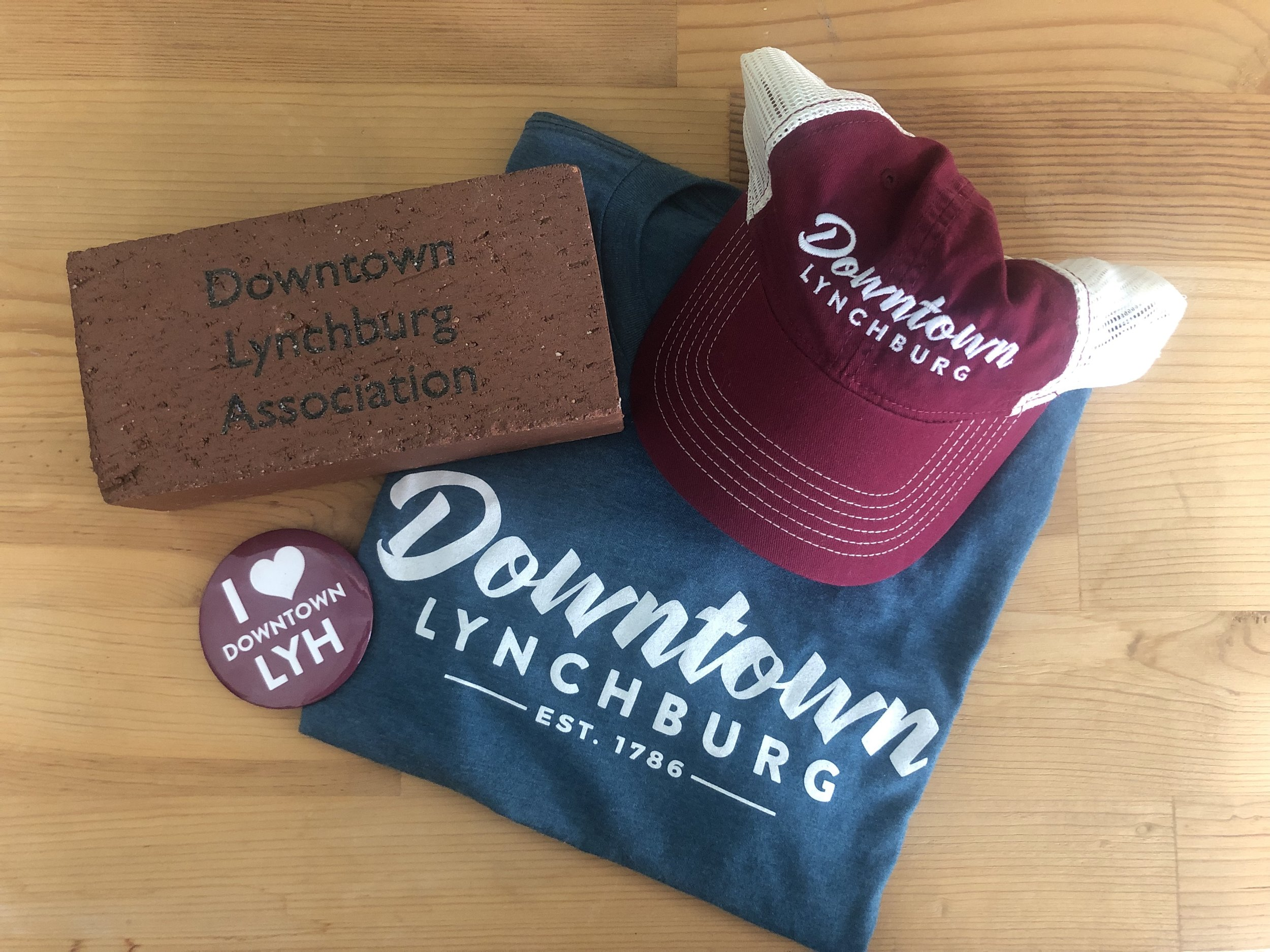 DLA Swag Pack - Make your mark on Downtown Lynchburg with your very own 4x8 brick on the Bluffwalk. Top it off with your choice of shirt and hat to represent your city.WINNER: Julie McAuley-Gonzalez