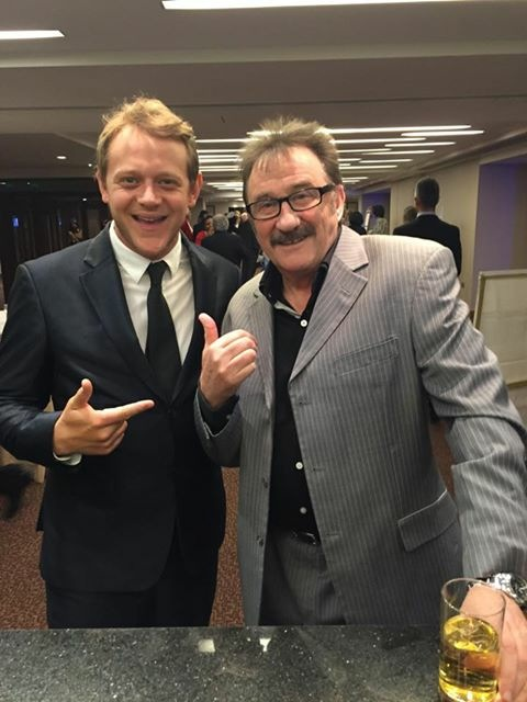 Neal with Barry Chuckle Stringfever.JPG