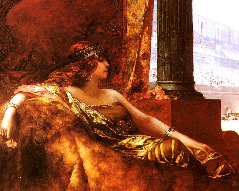 Theodora watching the games at Byzantium's Hippodrome, which was the cauldron for the city's politics