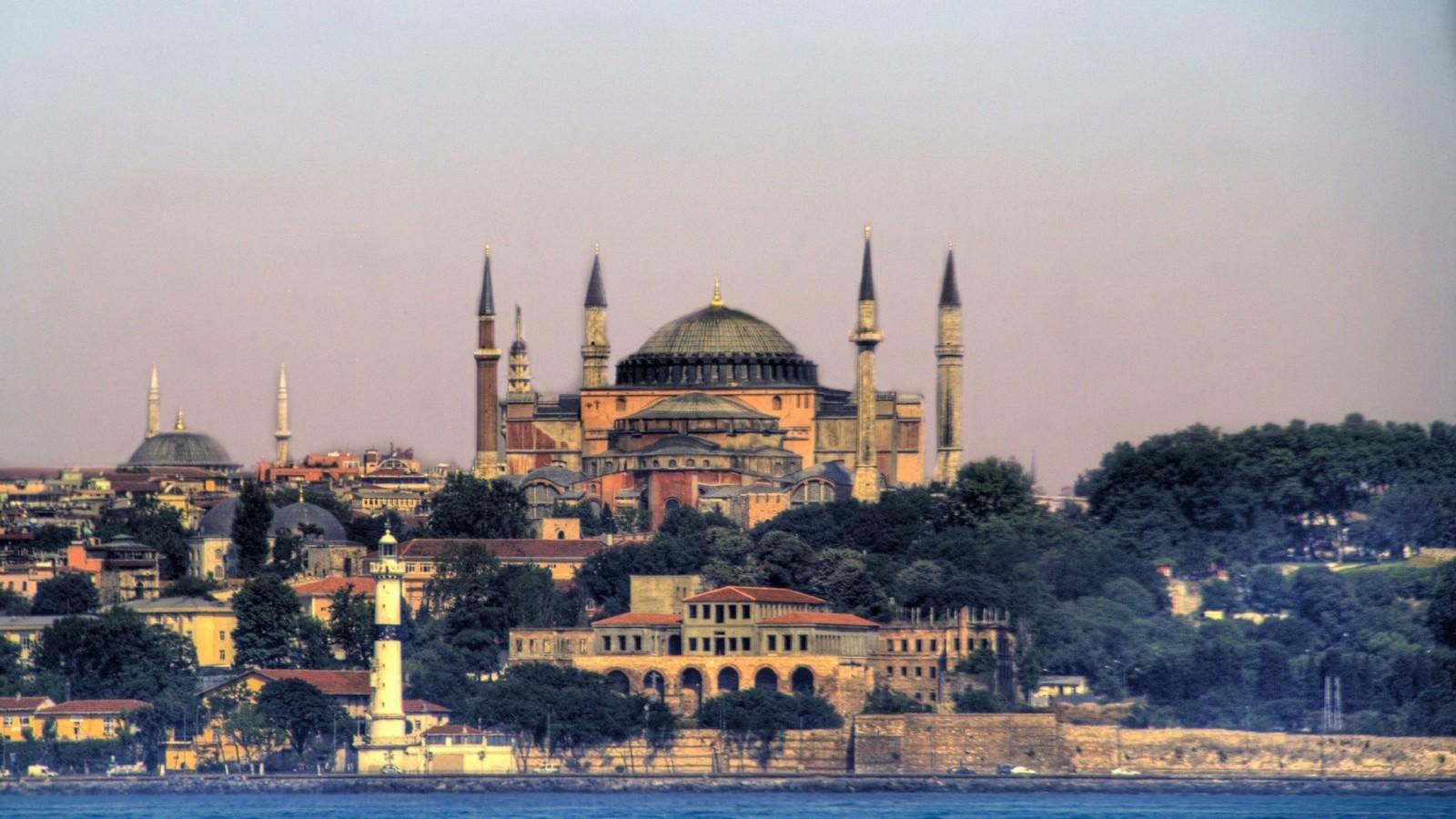 The Hagia Sophia still dominates the skyline of Istanbul