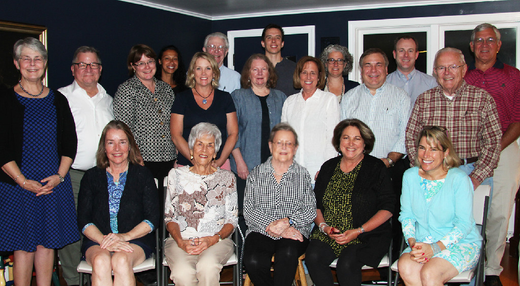 The Scholarship Fund of Concord and Carlisle announces its 2017-2018 Board of Trustees: (back row) Hanna Bruno, John Mee, Travis Minor, Devra Feshbach-Meriney, Nick Carter, and Ken Anderson; (middle row) Lucy Miller, Welles Hatch, Amy Jolly, Julie Hagan, Jeanne DeTemple, Deb Mayerson, Paul Ressler, and Al Powers (seated front row). (front row) Janet Friedman, Elaine DiCicco, Dorrie Bean, Priscilla White Sturges, and Bee Loprete. (not in photo: Ed Bernard, Molly Eberle, Tom Rutledge and David Gould)