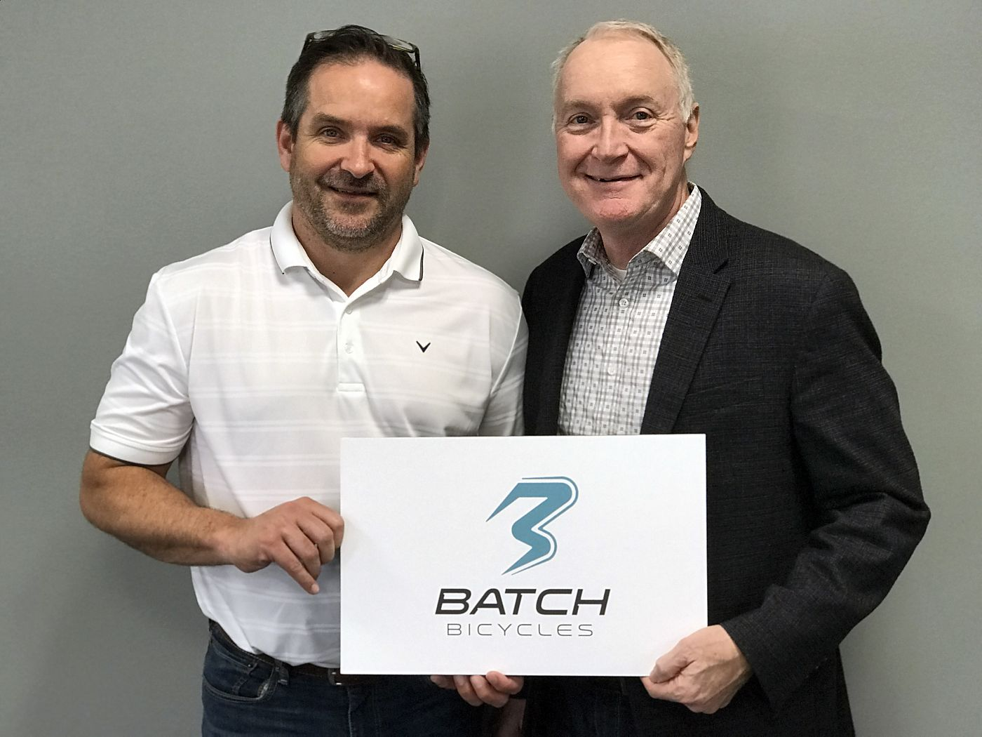 Bruno Maier (left) with Huffy CEO Bill Smith