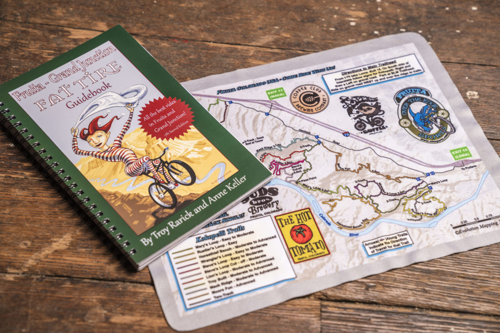 Publishing—and updating—maps and guidebooks to Fruita's extensive local trail networks has helped establish Over the Edge as the region's go-to experts.  (OTE Sports)
