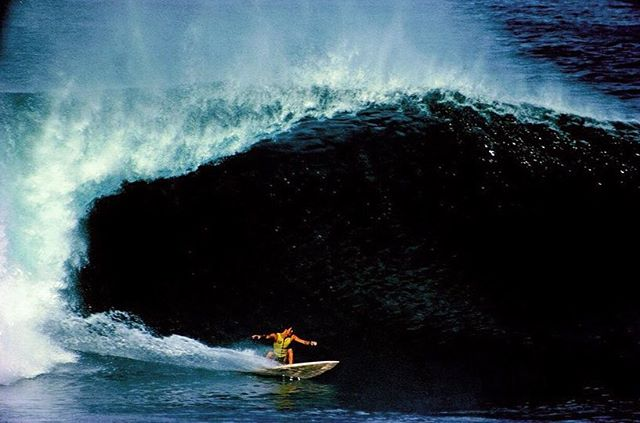 """""""As I float in the ocean atop my surfboard in the lineup - the area where you wait for and anticipate catching waves - I see a grouping of waves approach from about 300 yards out, beginning as a series of swells or a """"set."""" Each individual wave starts to lift up and steepen as it encounters the drag of the coral beneath the surface. I choose my wave, swing my board towards shore, and paddle hard. Taking 2 extra strokes as the wave rears up vertically, I paddle over the edge of the precipice with absolute commitment. It is a swift, simple and instinctual process molded by practice, fitness and a desire to challenge yourself to the outer edges of your abilities. Confidence – both in yourself and your equipment - imprisons the butterfly of fear in a dark little box in your brain."""" Shaun Tomson • Shaun Tomson, Pipeline ⠀⠀⠀⠀⠀⠀⠀⠀⠀ ⠀⠀⠀⠀⠀⠀⠀⠀⠀ ⠀⠀⠀⠀⠀⠀⠀⠀⠀ ⠀⠀⠀⠀⠀⠀⠀⠀ ⠀⠀⠀⠀⠀⠀⠀⠀⠀ ⠀⠀⠀⠀⠀⠀⠀⠀⠀ ⠀⠀⠀⠀⠀⠀⠀⠀⠀ ⠀⠀⠀⠀⠀⠀⠀⠀⠀ ⠀⠀⠀⠀⠀⠀⠀⠀⠀ ⠀⠀⠀⠀⠀⠀⠀⠀ ⠀⠀⠀⠀⠀⠀⠀⠀⠀ ⠀⠀⠀⠀⠀⠀⠀⠀⠀ #podaloha #aloha #surfing #surf #surflegends #surflegend #surfhistory #podcast #hawaii #shauntomson #pipeline #pipelinemasters #hero #soulsurfer #thecode #spiritofaloha"""