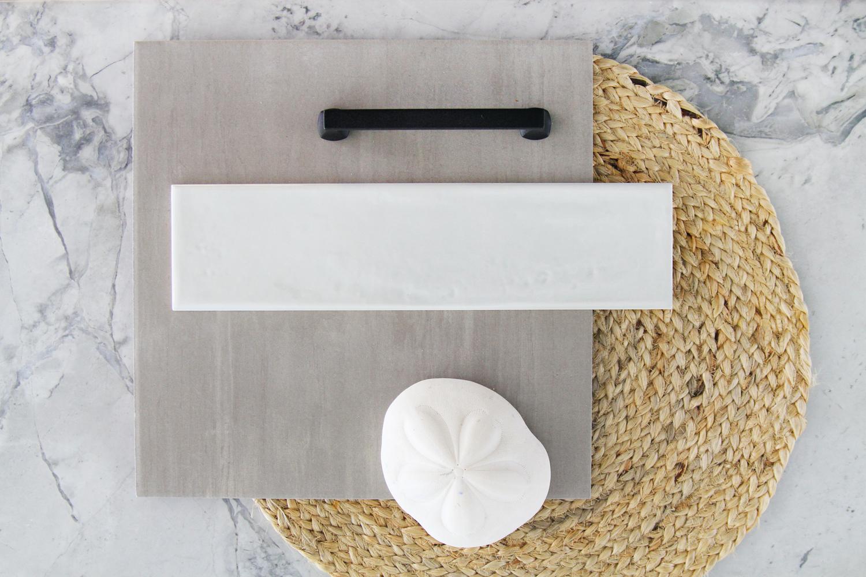 Coordinated materials for a coastal aesthetics look… -