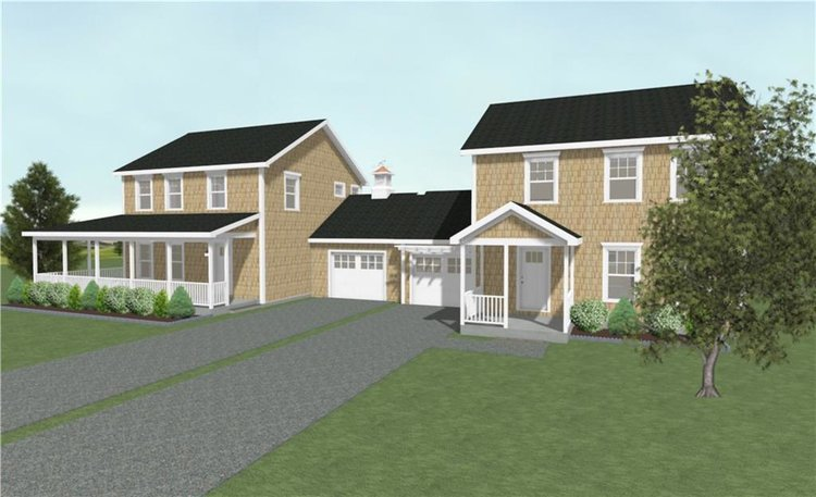 A rendering depicting Building #9 of Jamestown Landing.