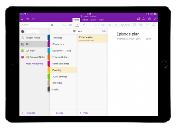 PLANNED WITH ONENOTE