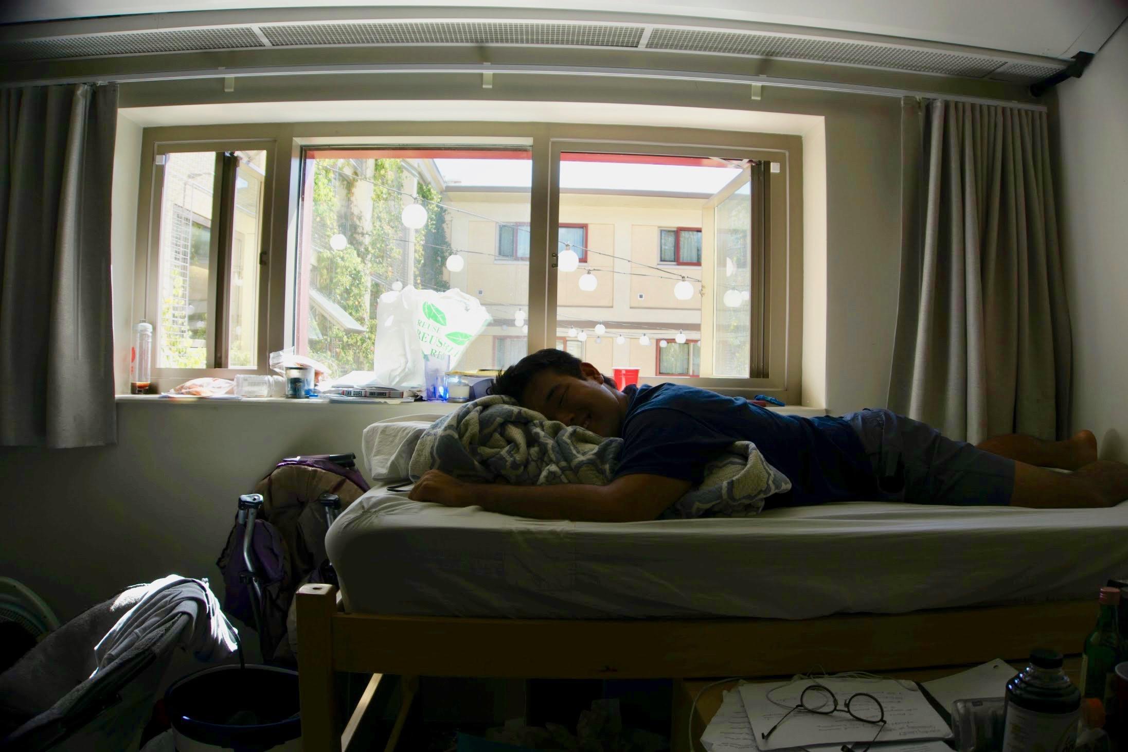 Jayden Ha, a sophomore, slumps // photo by Emma David