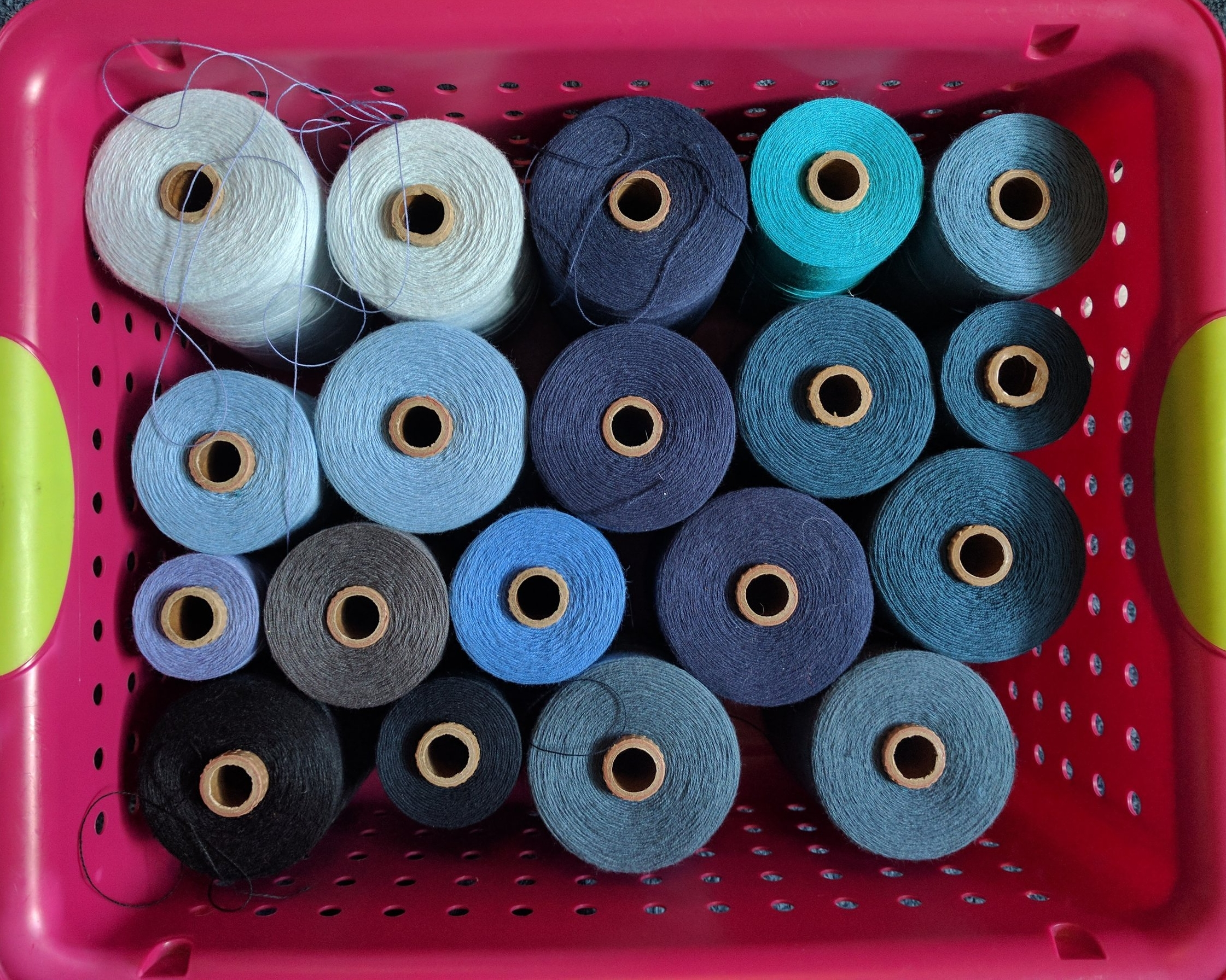 Then there is counting - In order to organize the yarn into a warp, we wind it onto the warping reel. This ensures the yarn is the right length and in the right order.