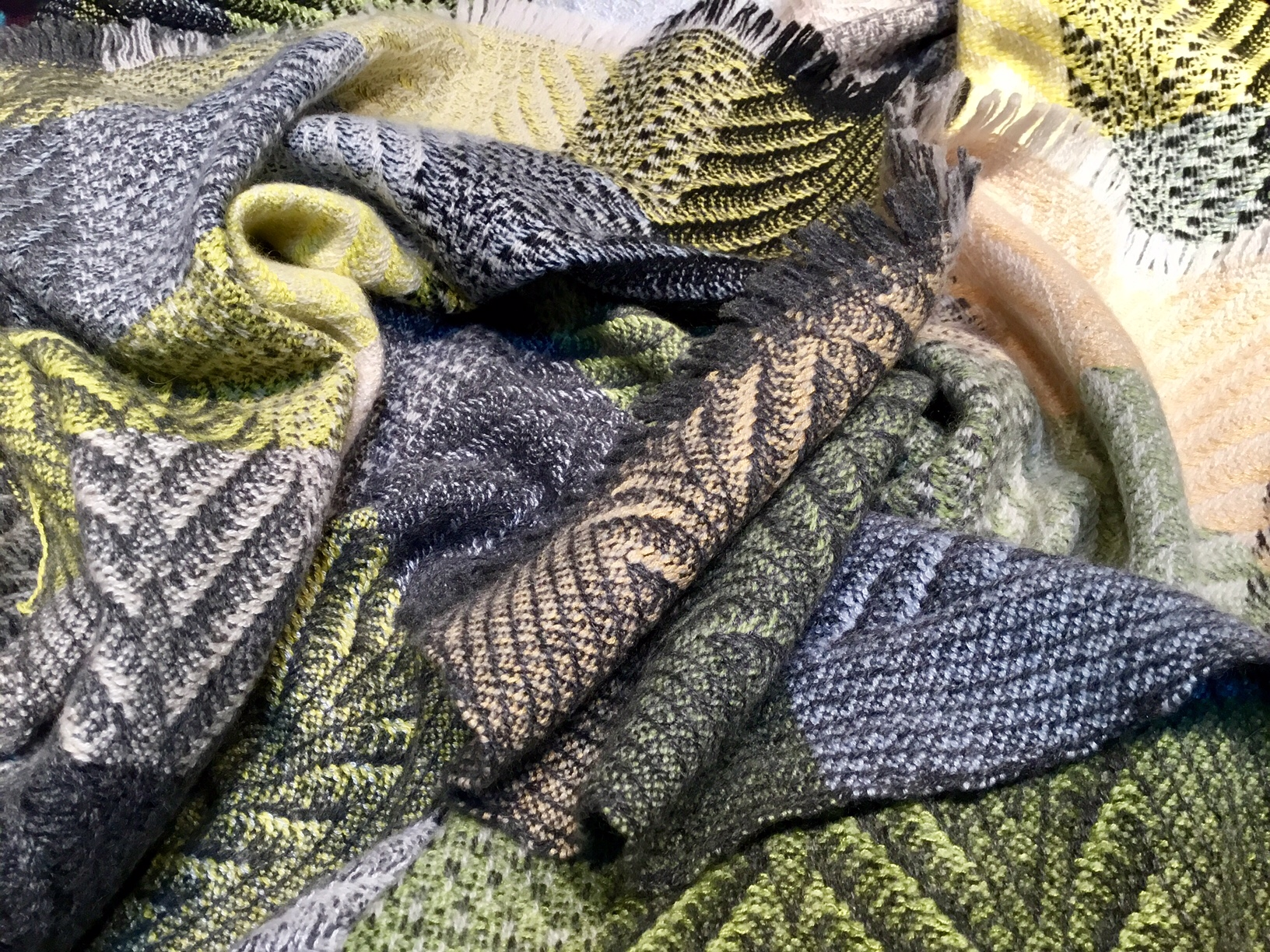 Time for a bath - When the fabric is ready, it's time for the wash. We wash out all the stiffening agent that yarn companies add to aid in the weaving process, leaving the fabric gloriously soft.