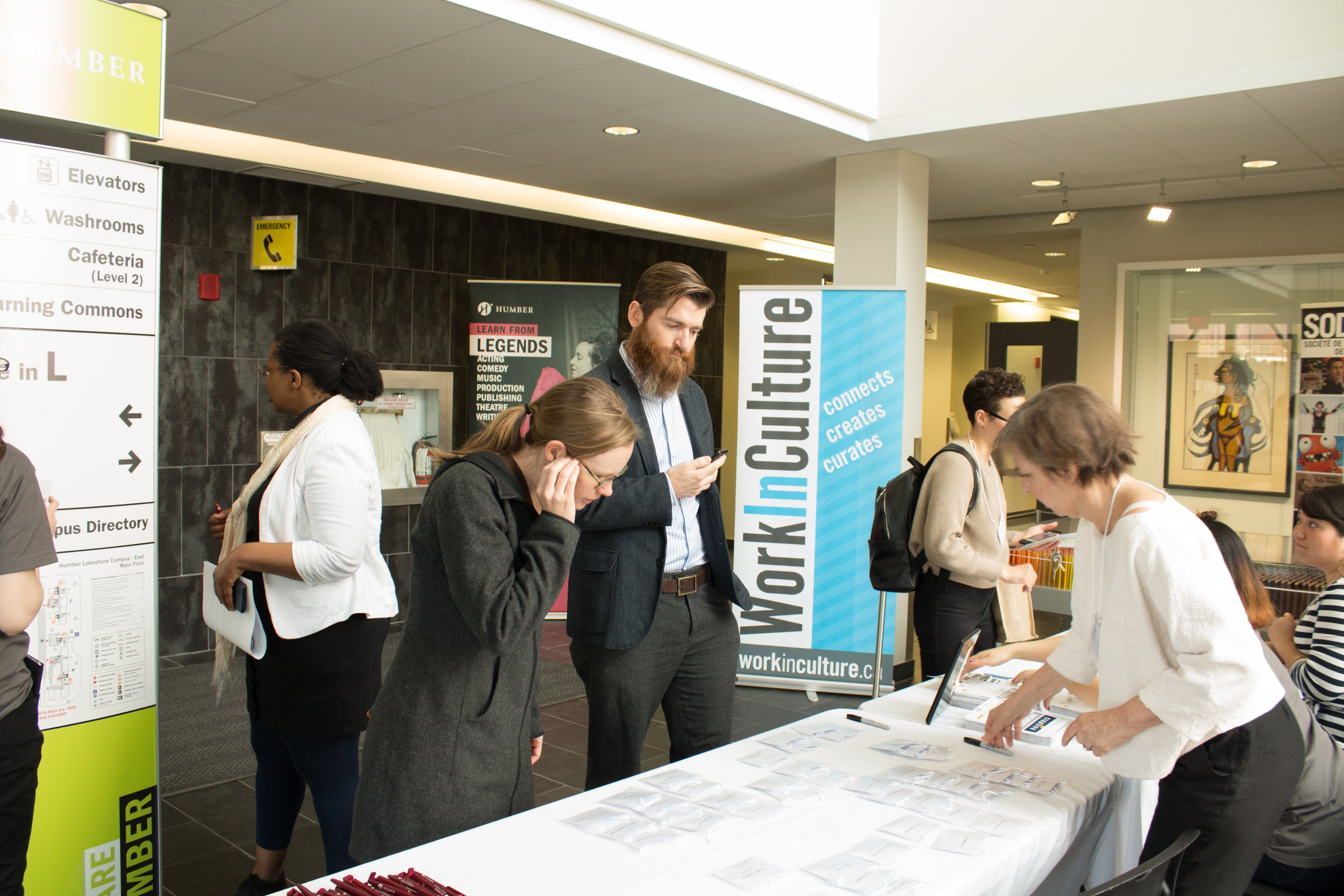 - The first Creative Works conference on May 12, 2017, was held at the Humber College Lakeshore Campus. The full-day conference was an opportunity for new and experienced cultural leaders, to explore topics through three general streams: Money and Models, Innovating Work/Space and Leading for the Future.