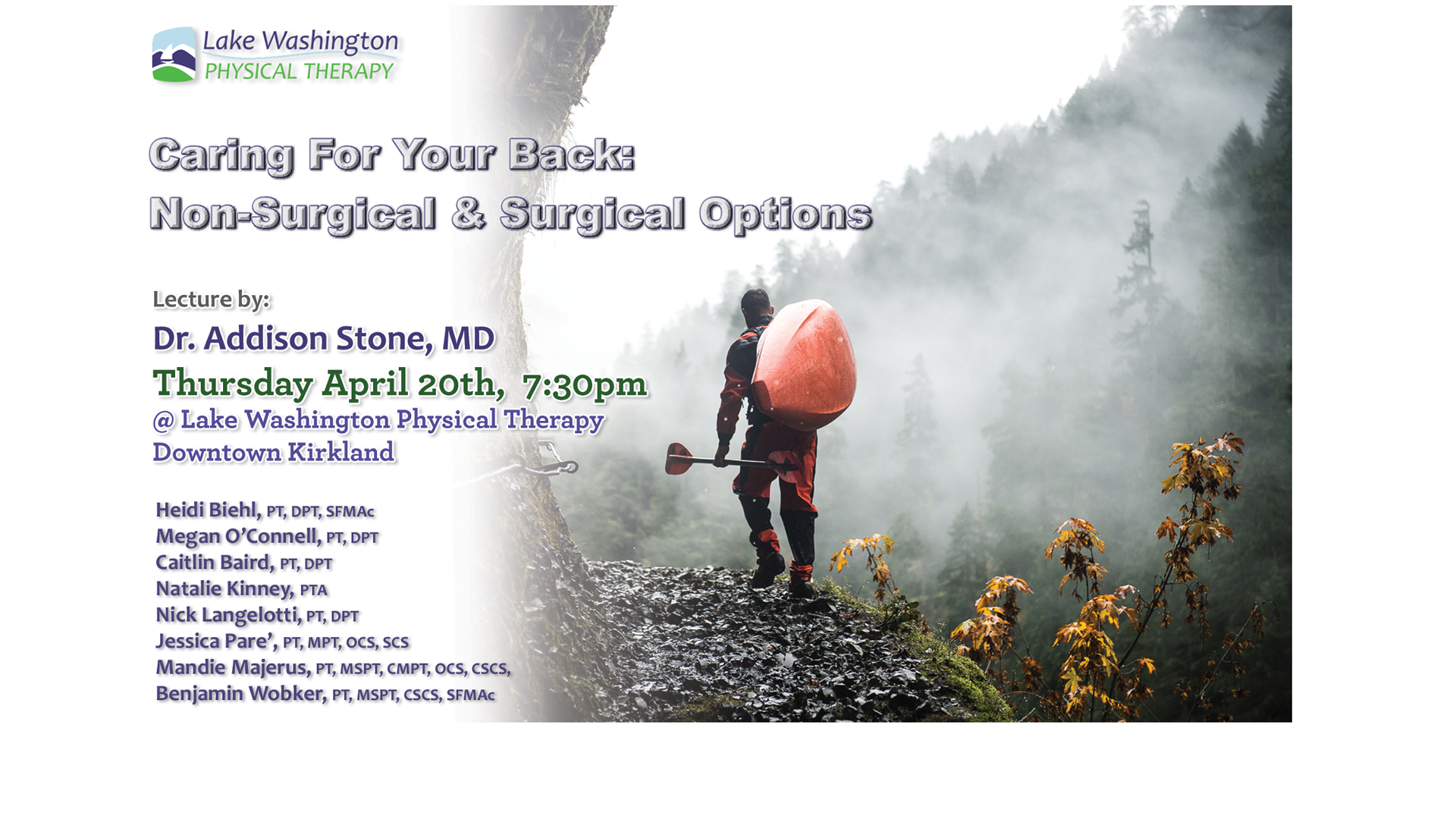 Dr. Addison StoneLumbar Spine Lecture - More on Dr. Stone