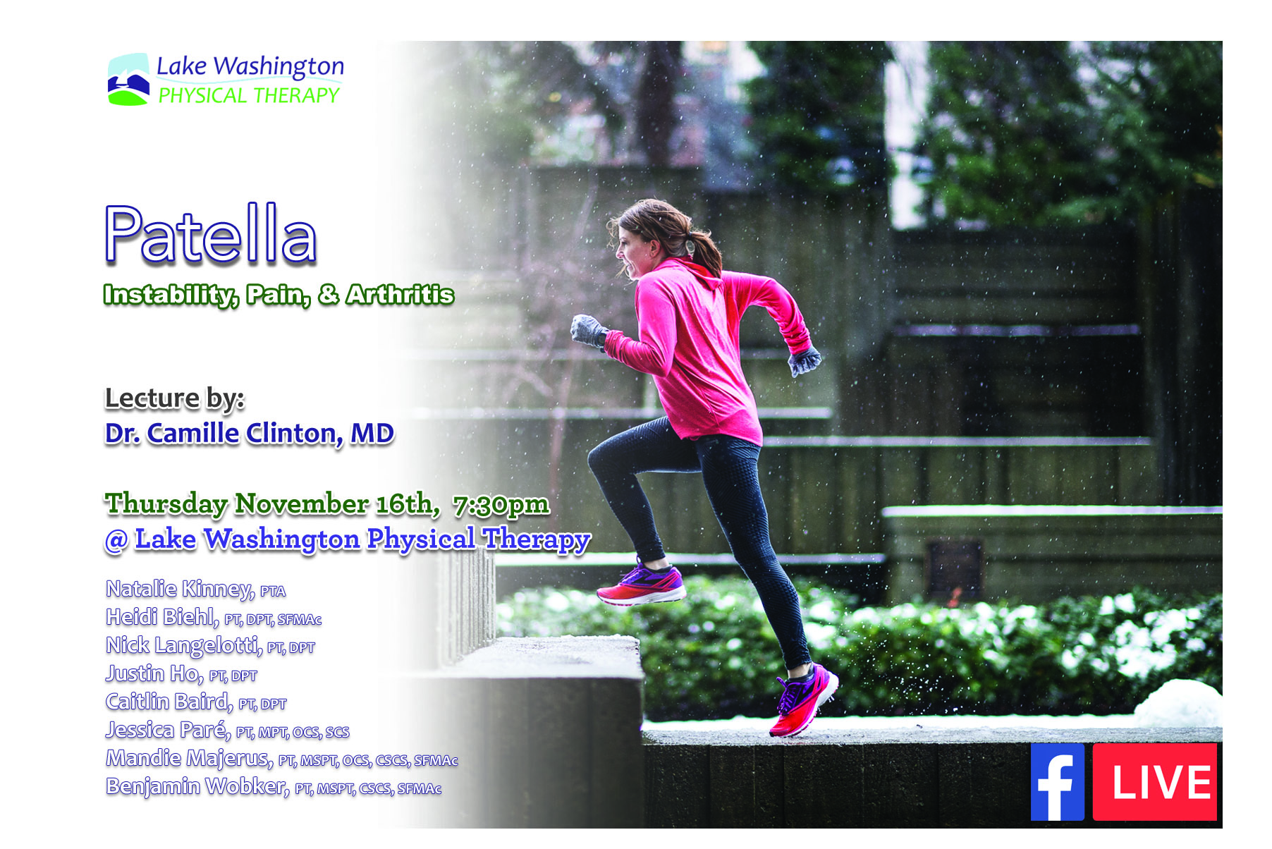 Dr. Camille Clinton, MDPatella Lecture - More on Dr. Clinton