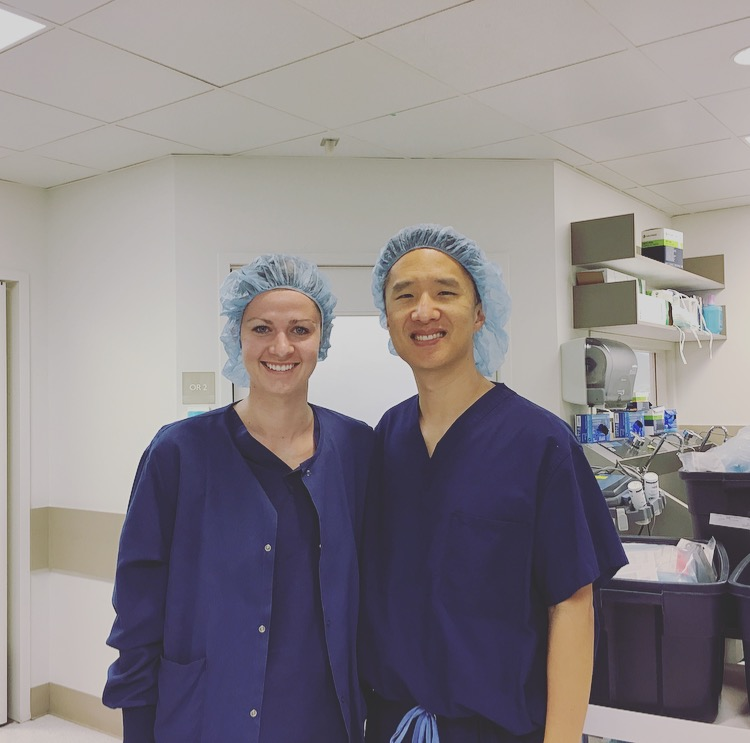 Caitlin attends surgery with Dr. Koo - April 2017
