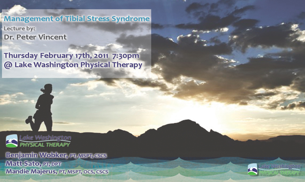 Dr. Peter VincentManagement of Tibial Stress Synrome - More on Dr. Peter Vincent (click here)