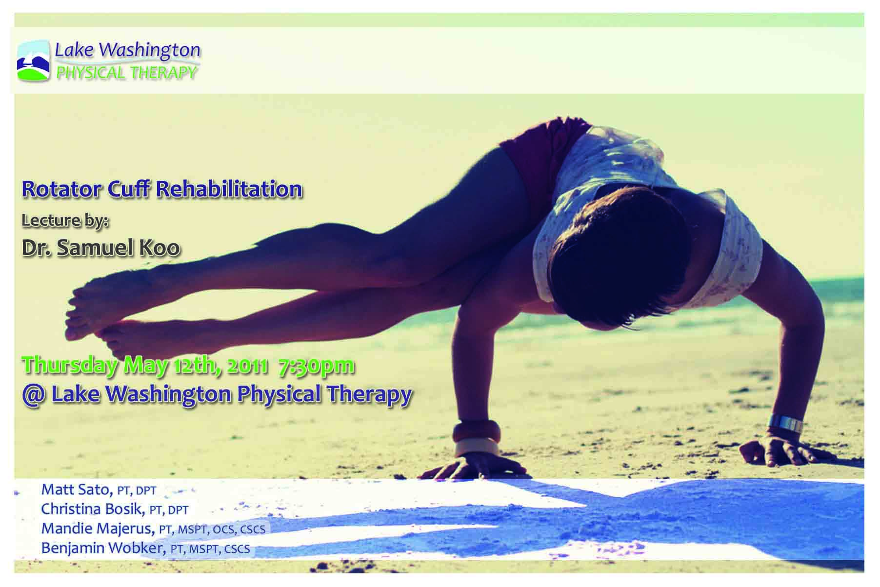 Dr. Samuel KooRotator Cuff Rehabilitation - More on Dr. Koo (Click here)