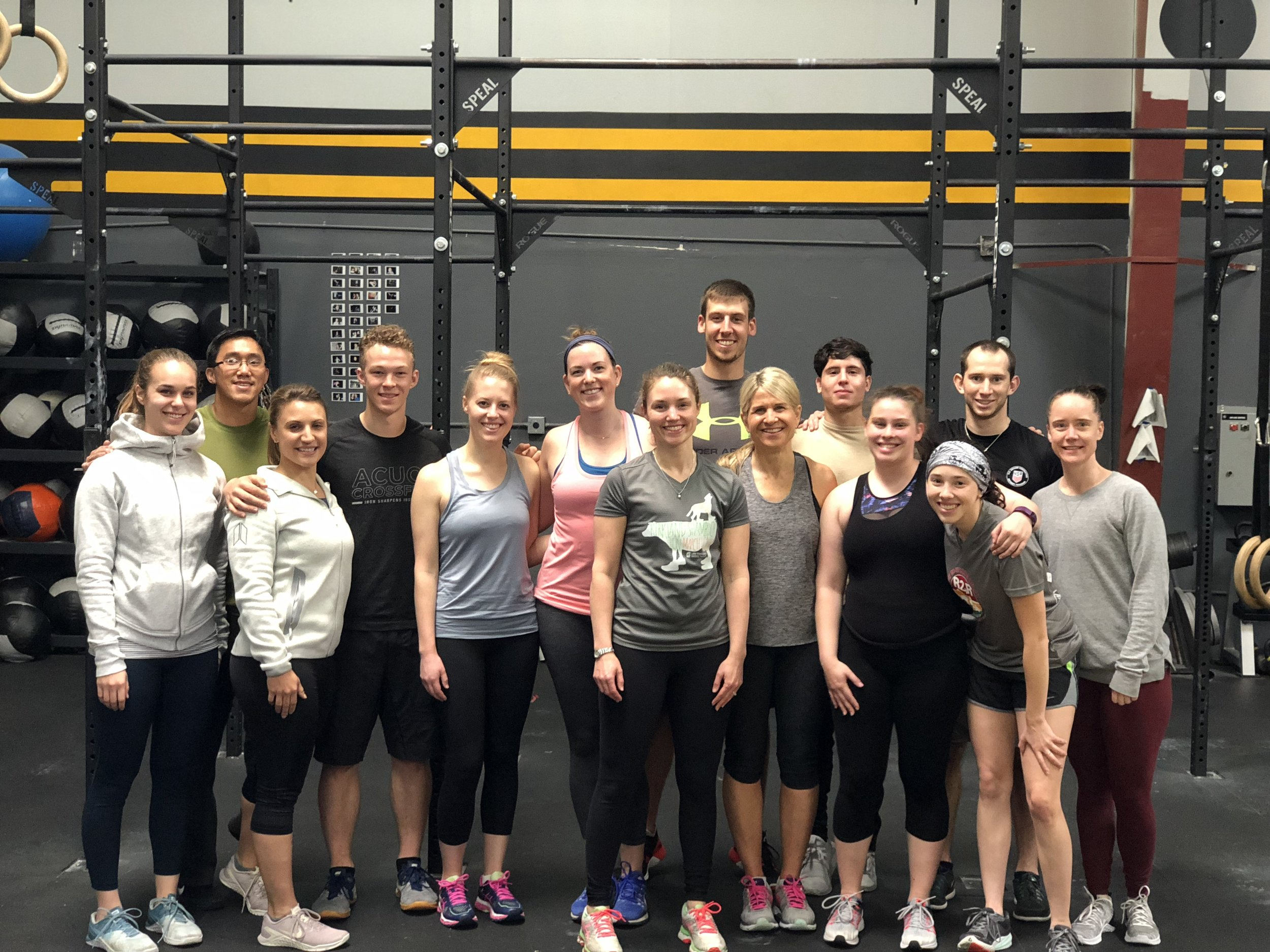 Acuo Crossfit Workout - June: The Houghton team enjoyed a tough Saturday workout at Matt's Cross-fit gym Acuo Crossfit. Thanks to the coaches that put us though a tough workout.