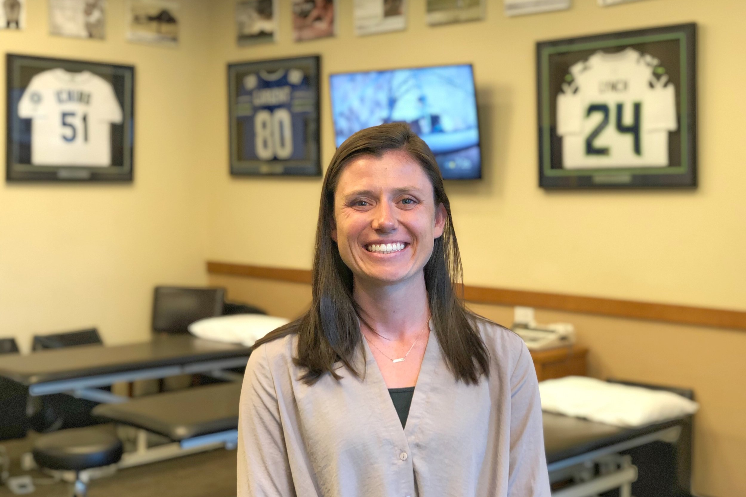 Kerri SmithPT, DPT - Kerri grew up in Kirkland, WA and attended The Overlake School where she played soccer and lacrosse. Kerri met Ben Wobker, Mandie Majerus, and the staff at Lake Washington Physical Therapy initially as a patient where they gave her the tools to continue being active. In the following years, she shadowed Ben and Mandie, which sparked her interest in the career of physical therapy……Continue »