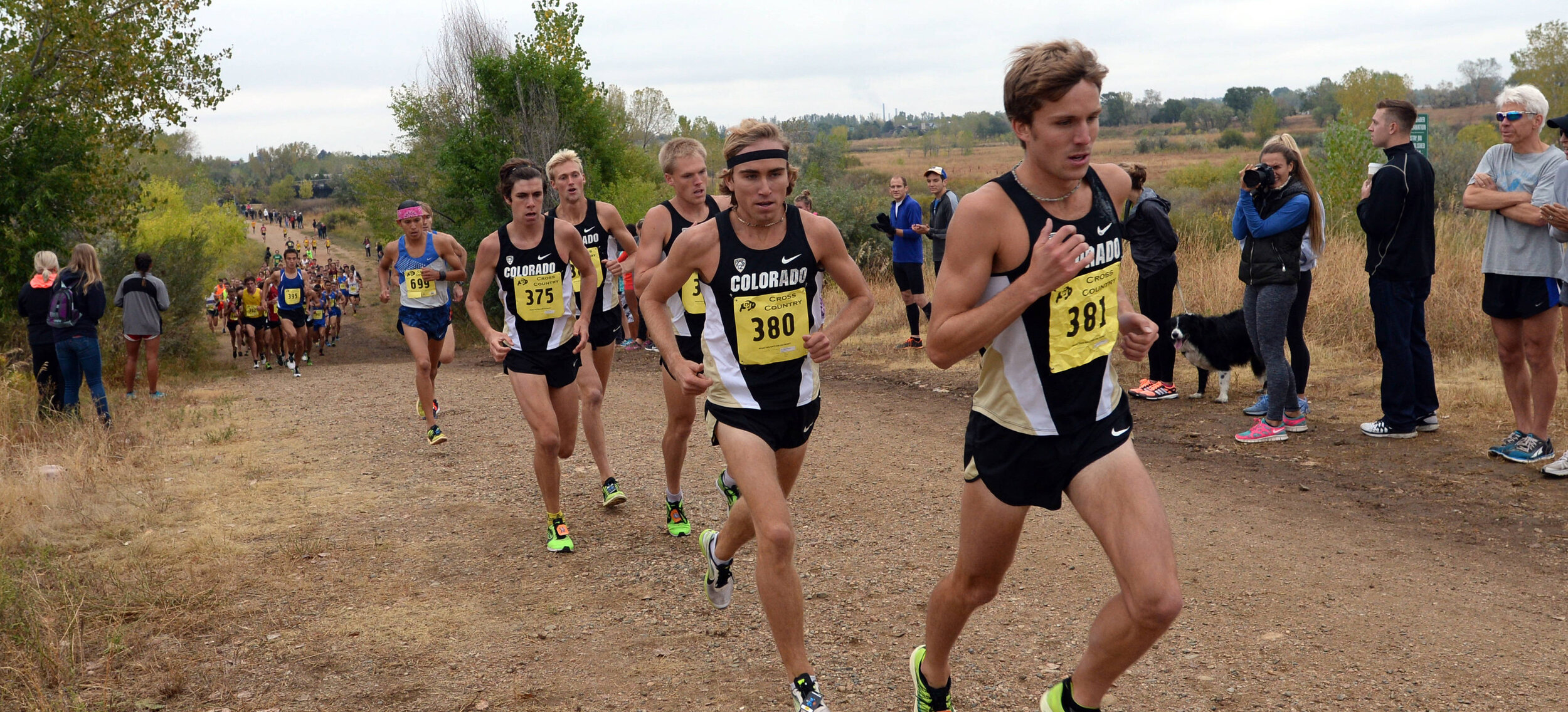 Morgan leading a pack of Buffalo at the Rocky Mountain Shootout in Boulder.