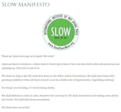 Slow Manifesto