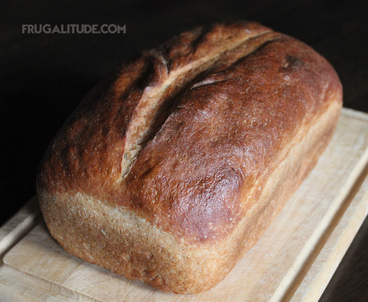No-Knead Bread made with leftover whey