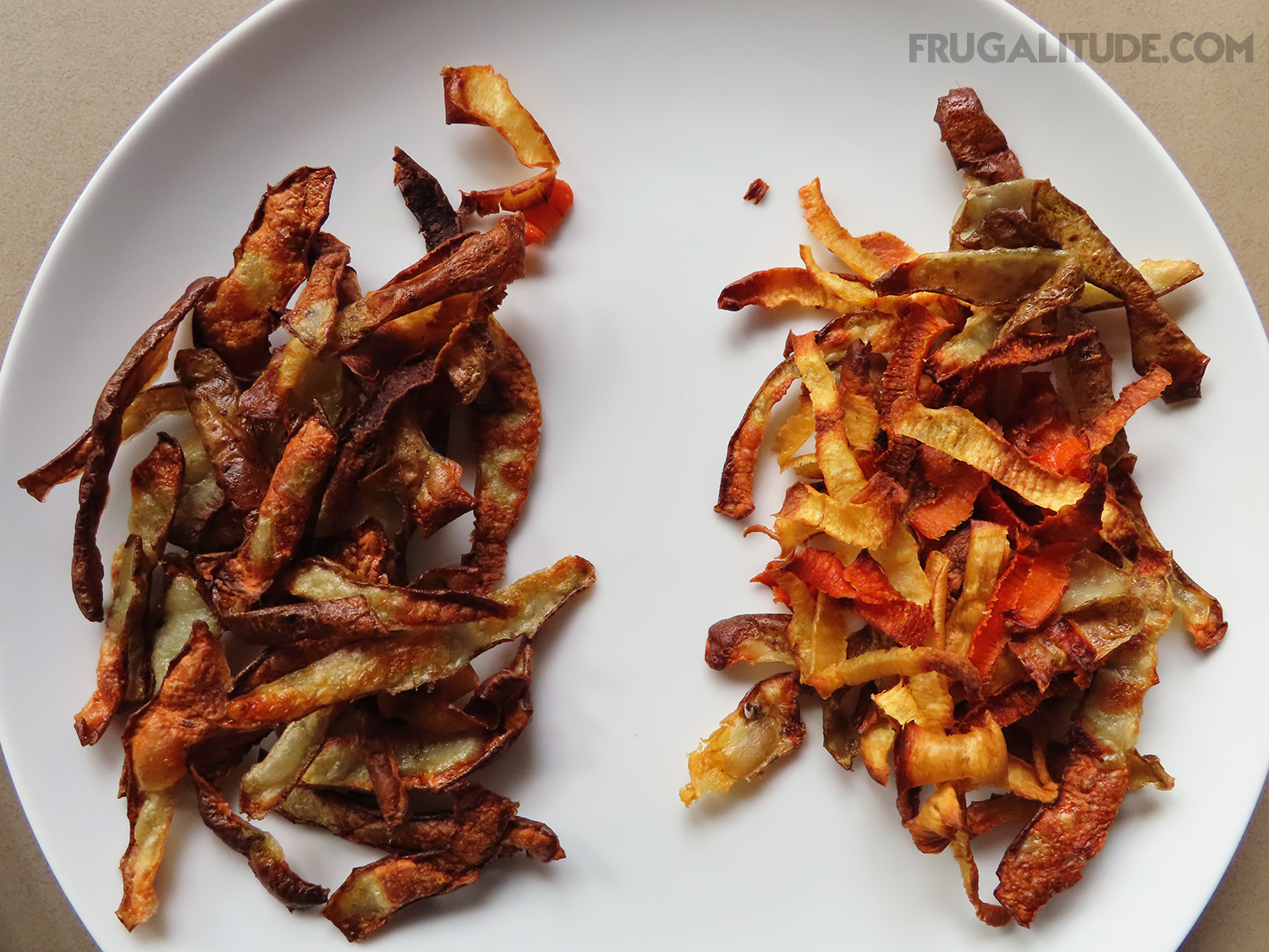 Blanched peelings vs non-blanched peelings
