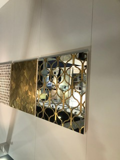 Mirror With Copper Inlay