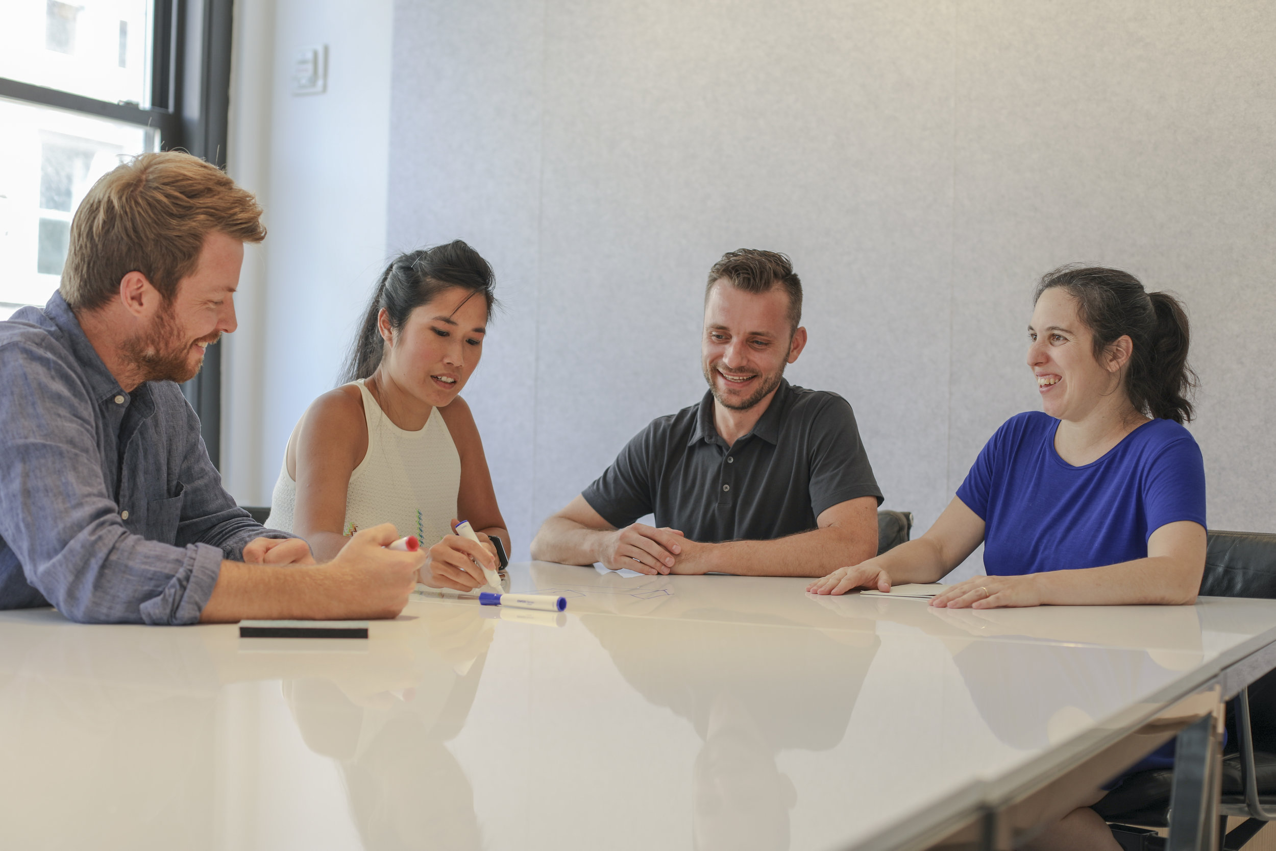 From left to right, Brian Thomas, Vivien Chin, Tim Aarsen, and Marta d'Allesandro