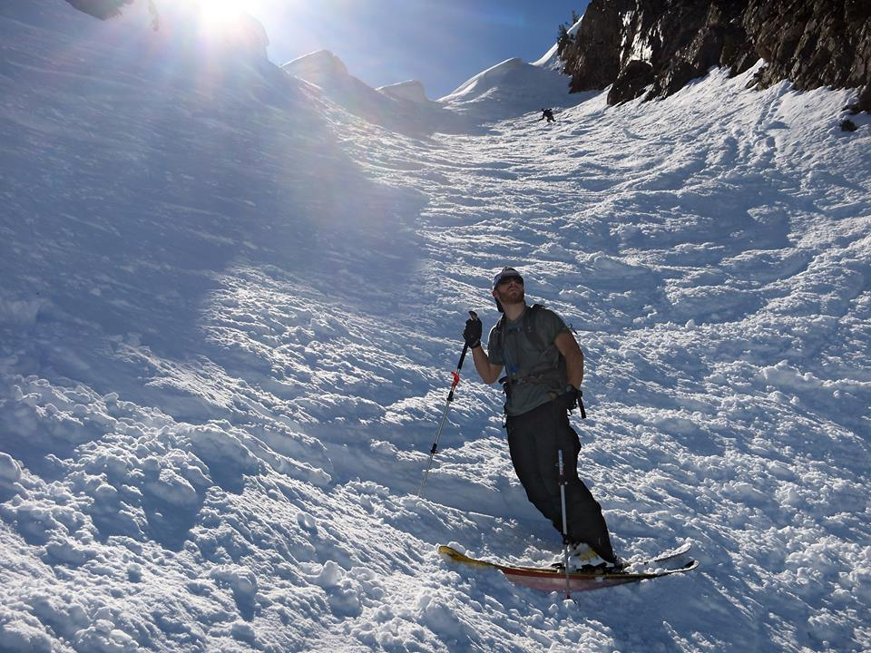 Dr. Stephen backcountry skiing in WA