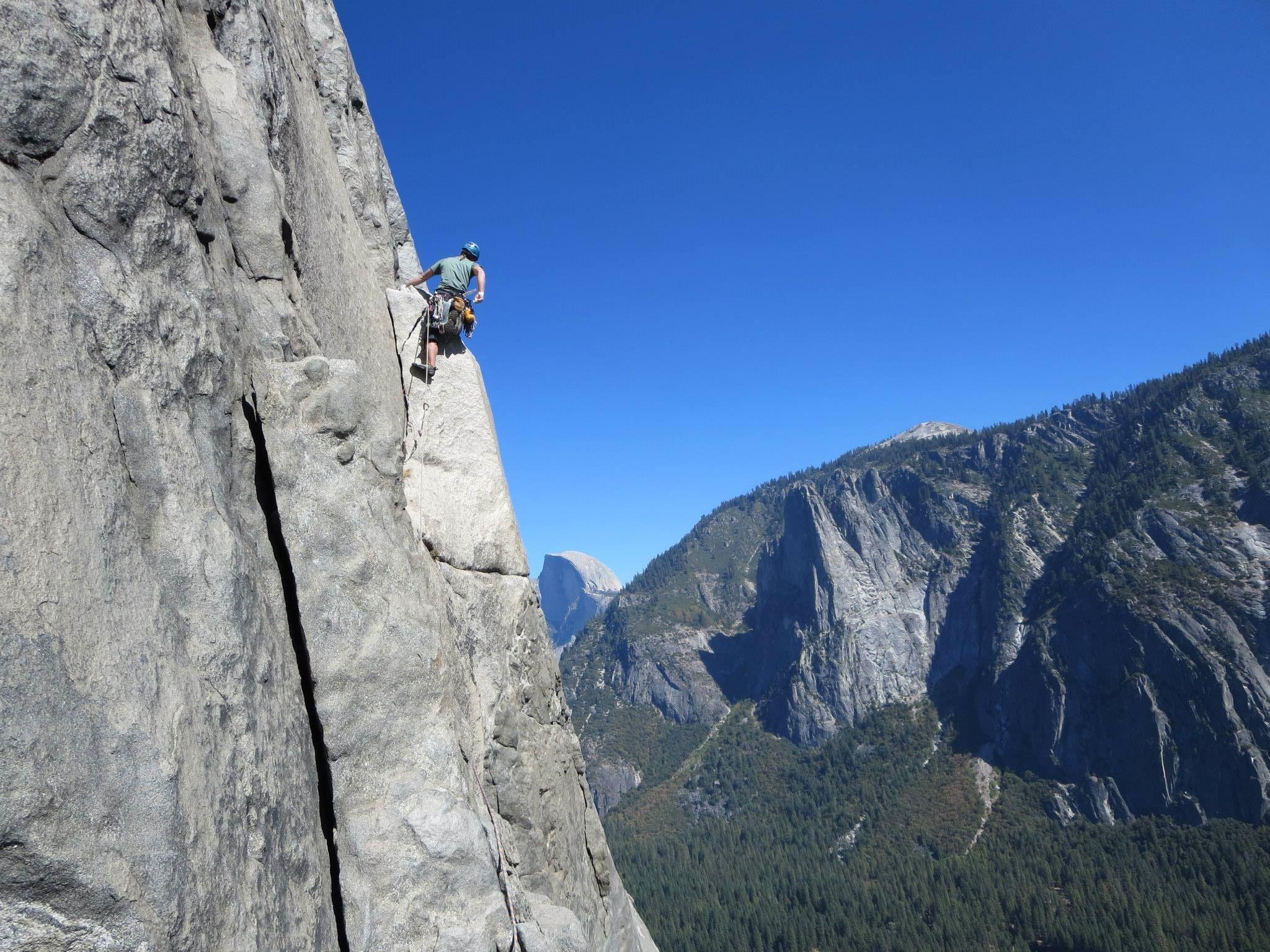 Dr. Stephen climbing on El Capitan