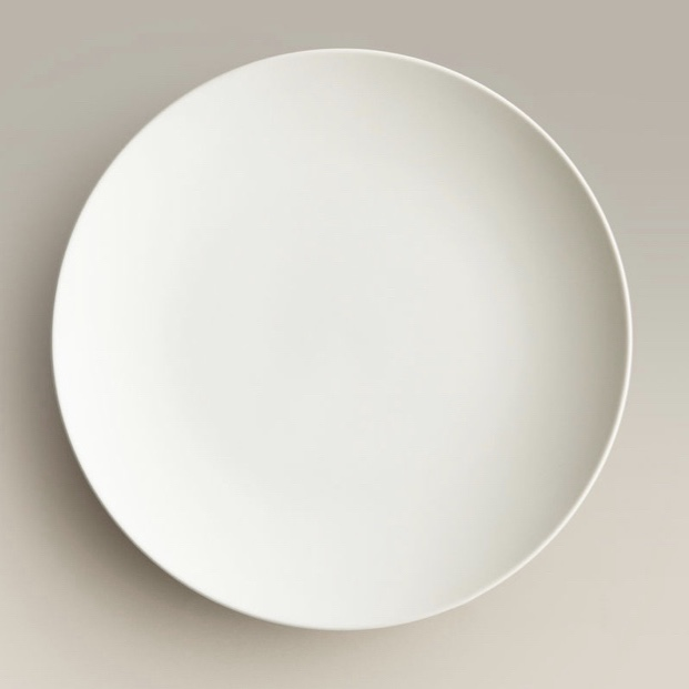 Click to View: White Ceramic Dinner Plate